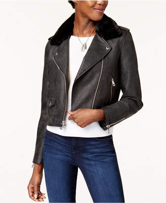 Levi's Cropped Sherpa Collar Moto Jacket