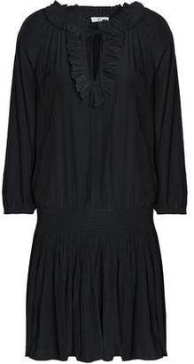Joie Ruffled Crepe De Chine Mini Dress