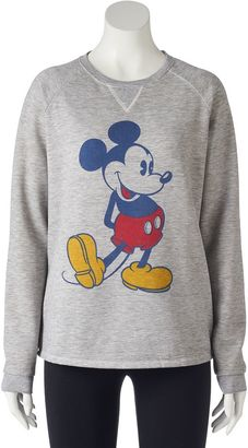 Disney's Juniors' Mickey Mouse High-Low Graphic Sweatshirt $30 thestylecure.com