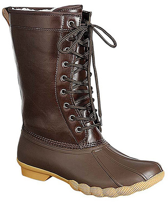 Brown Hunter Boot $57 thestylecure.com