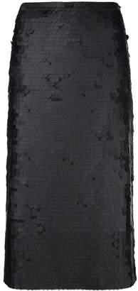 Fabiana Filippi embroidered pencil skirt