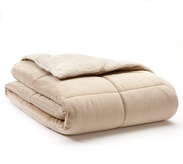 Cedar creek micromink & sherpa cloud reversible comforter