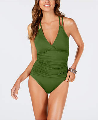 LaBlanca La Blanca Island Goddess Underwire Tummy Control Cross-Back One-Piece Swimsuit Women's Swimsuit