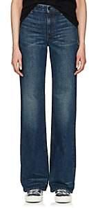 Helmut Lang WOMEN'S HIGH-RISE WIDE-LEG JEANS-DK. BLUE SIZE 24