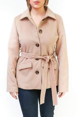 Tulle Belted Camel Coat