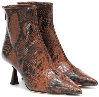 Jimmy Choo Kix 65 snake-effect ankle boots