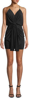 MISA Los Angeles Domino Short Slinky Jersey Cocktail Dress
