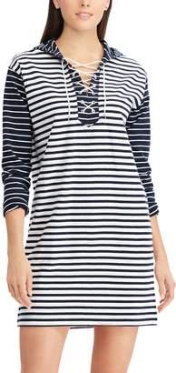 Chaps Women's Striped Lace-Up Shift Dress