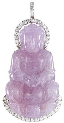 LC Collection Jade Diamond jade 18k white gold Buddha pendant