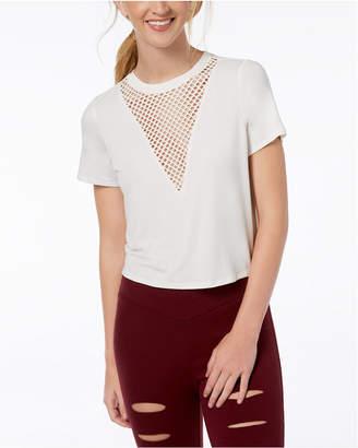 Material Girl Juniors' Mesh-Inset T-Shirt, Created for Macy's