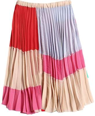 Marni Junior Pleated Crepe Midi Skirt