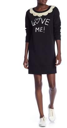 Love Moschino Abito Stampa Crew Neck Dress