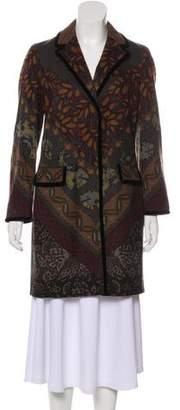 Etro Wool Knee-Length Coat w/ Tags
