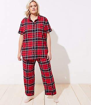 LOFT Plus Plaid Pajama Set