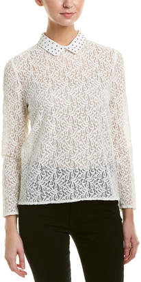 The Kooples Lace & Studs Top