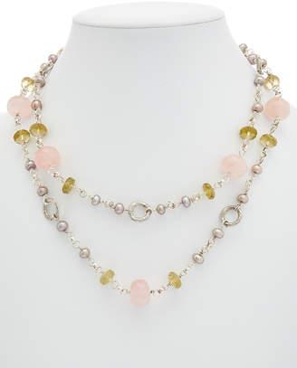 Stephen Dweck Silver Gemstone & Pearl Necklace