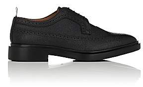 Thom Browne Men's Scotch Grain Leather Wingtip Bluchers-Black