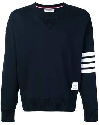 Thom Browne 4-bar sleeve cotton sweatshirt navy