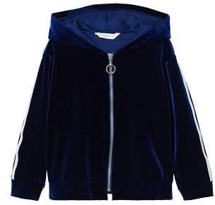 MANGO Rhinestone velvet jacket