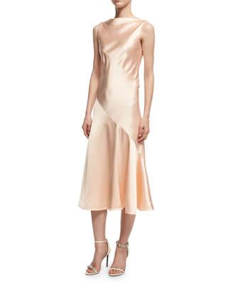 Calvin Klein Satin Bias-Cut Midi Dress