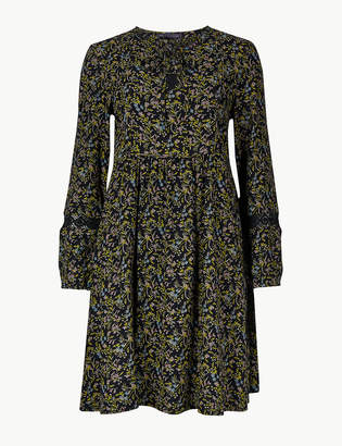 Marks and Spencer PETITE Floral Print Relaxed Dress