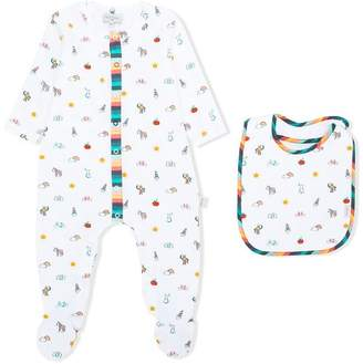 Paul Smith printed pajama and bib set