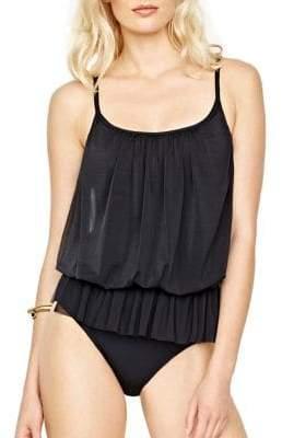 Gottex One-Piece Lattice Bandeau Blouson Swimsuit $158 thestylecure.com