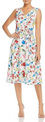 Calvin Klein Sleeveless Floral-Print Dress