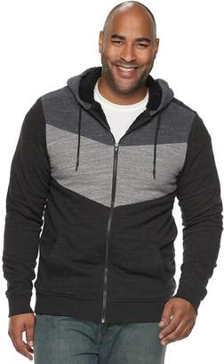 Big & Tall Urban Pipeline Colorblock Sherpa-Lined Hoodie
