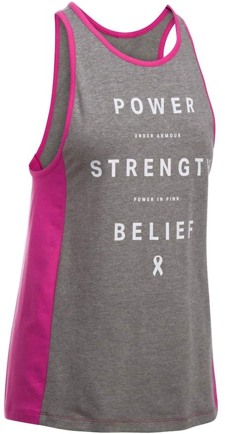 """Under Armour Women's Under Armour Power In Pink """"Power Strength Belief"""" Graphic Tank"""