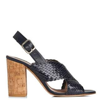0f075be85 Nightshadow Weaved Leather Mel Slingback Sandals