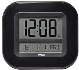 Timex AcuRite 9-inch Digital Atomic Clock with Temperature and Date