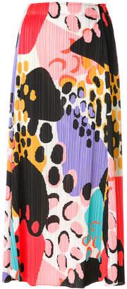 Issey Miyake animal print pleated skirt