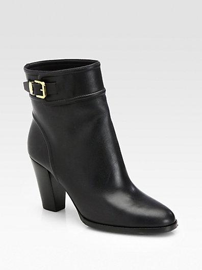 Ralph Lauren Meranda Leather Ankle Boots