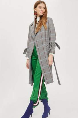 Topshop Tall Lightweight Checked Coat