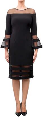 Joseph Ribkoff Fitted Bell-Sleeve Dress