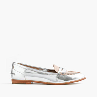 Collins mixed metallic leather loafers $188 thestylecure.com