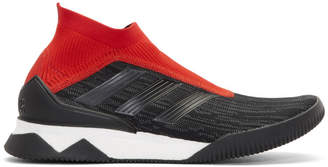 adidas Black and Red Predator Tango Sneakers