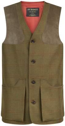 Purdey Technical Tweed Check Vest