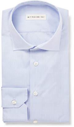 Etro Blue Slim-Fit Striped Cotton Shirt