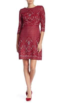 Gabby Skye 3/4 Sleeve Print Dress