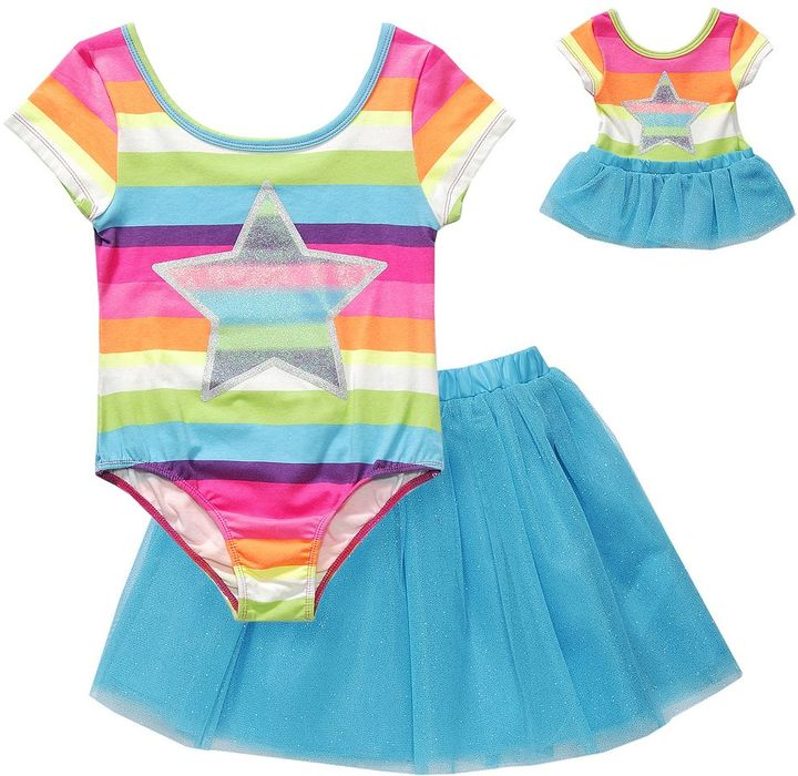 Dollie & Me star skirted dance leotard - girls