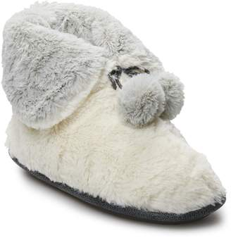 Cuddl Duds Women's Teddy Snuggle Up Bootie Slippers
