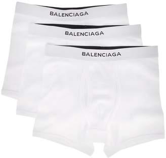 Balenciaga white three piece boxer set