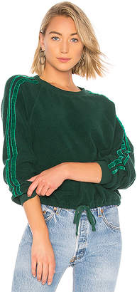 Pam & Gela Cropped Sweatshirt With Velvet Stripes