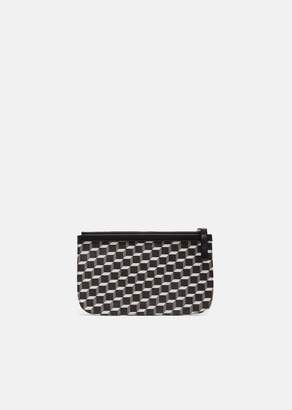 Pierre Hardy Small Maroquinerie Canvas Cube Pouch Black White Black