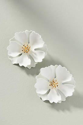 Anthropologie Painted Blooms Post Earrings