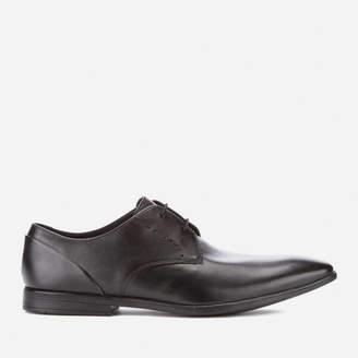Clarks Men's Bampton Lace Leather Derby Shoes - Black