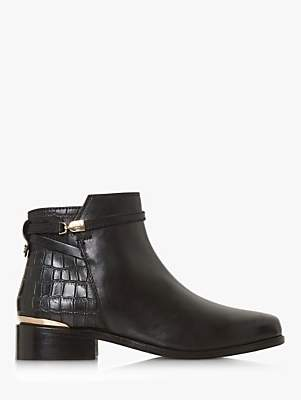 Dune Peppey Classic Chelsea Boots, Black Leather