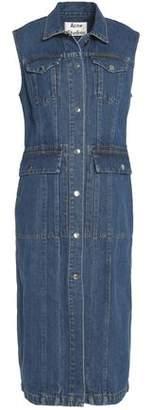 Acne Studios Paneled Denim Midi Dress